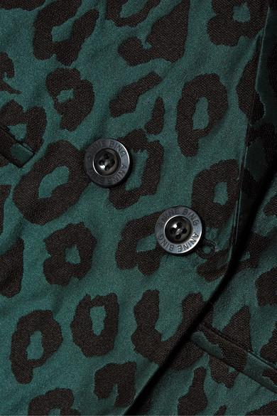 Blazer À Double Boutonnage En Jacquard Léopard Madeleine Anine Bing en coloris Vert