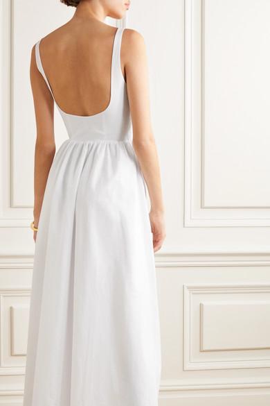 Robe Longue En Voile De Coton Coton Esteban Cortazar en coloris Blanc
