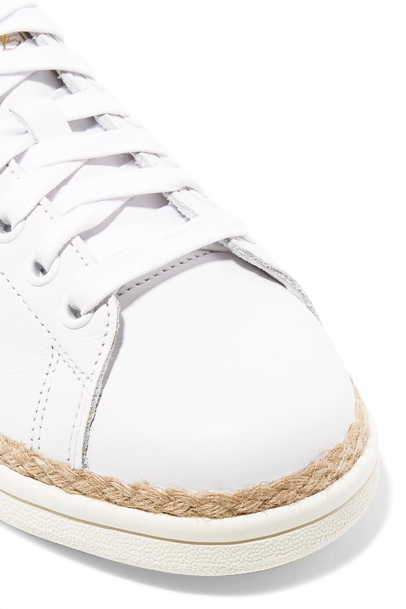 69069592504de1 Adidas Originals - White Stan Smith Bold Rope-trimmed Leather Sneakers -  Lyst. View fullscreen