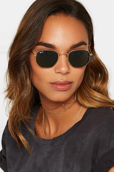 lunette ray ban femme hexagonale