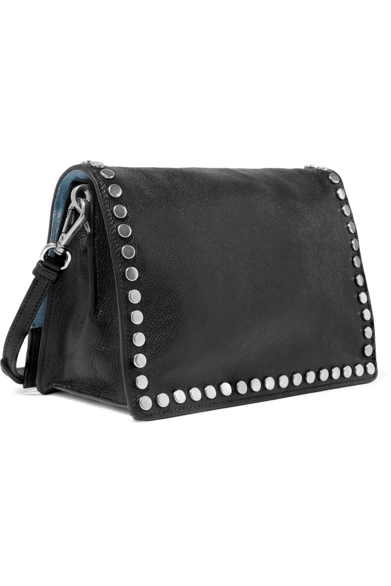 f2c966eaaea0 ... uk prada black etiquette small studded textured leather shoulder bag  lyst. view fullscreen 5b5fb e7ff5