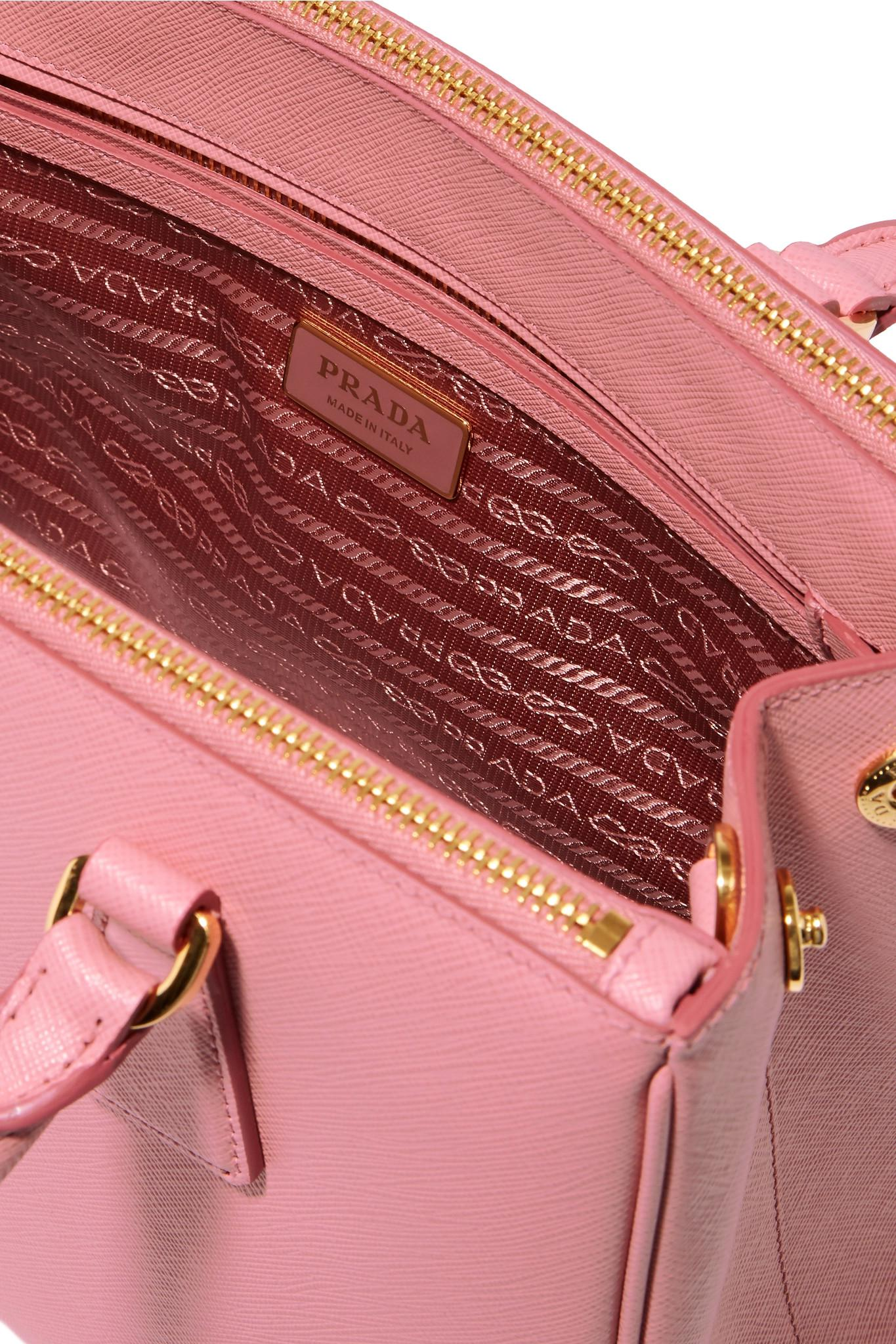 454425b0998 Prada Galleria Medium Textured-Leather Tote in Pink - Lyst