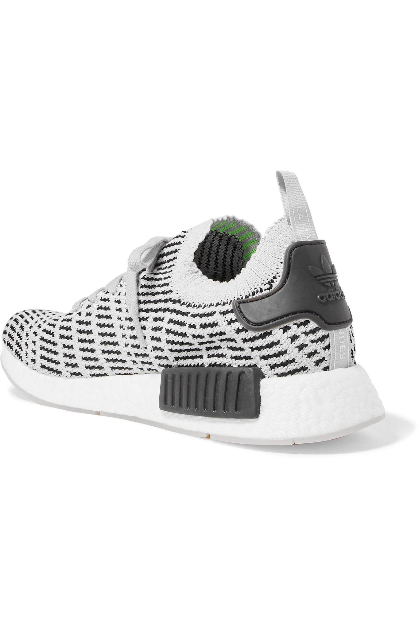 adidas Originals Nmd_r1 Rubber-trimmed Primeknit Sneakers in Light Gray (Grey)
