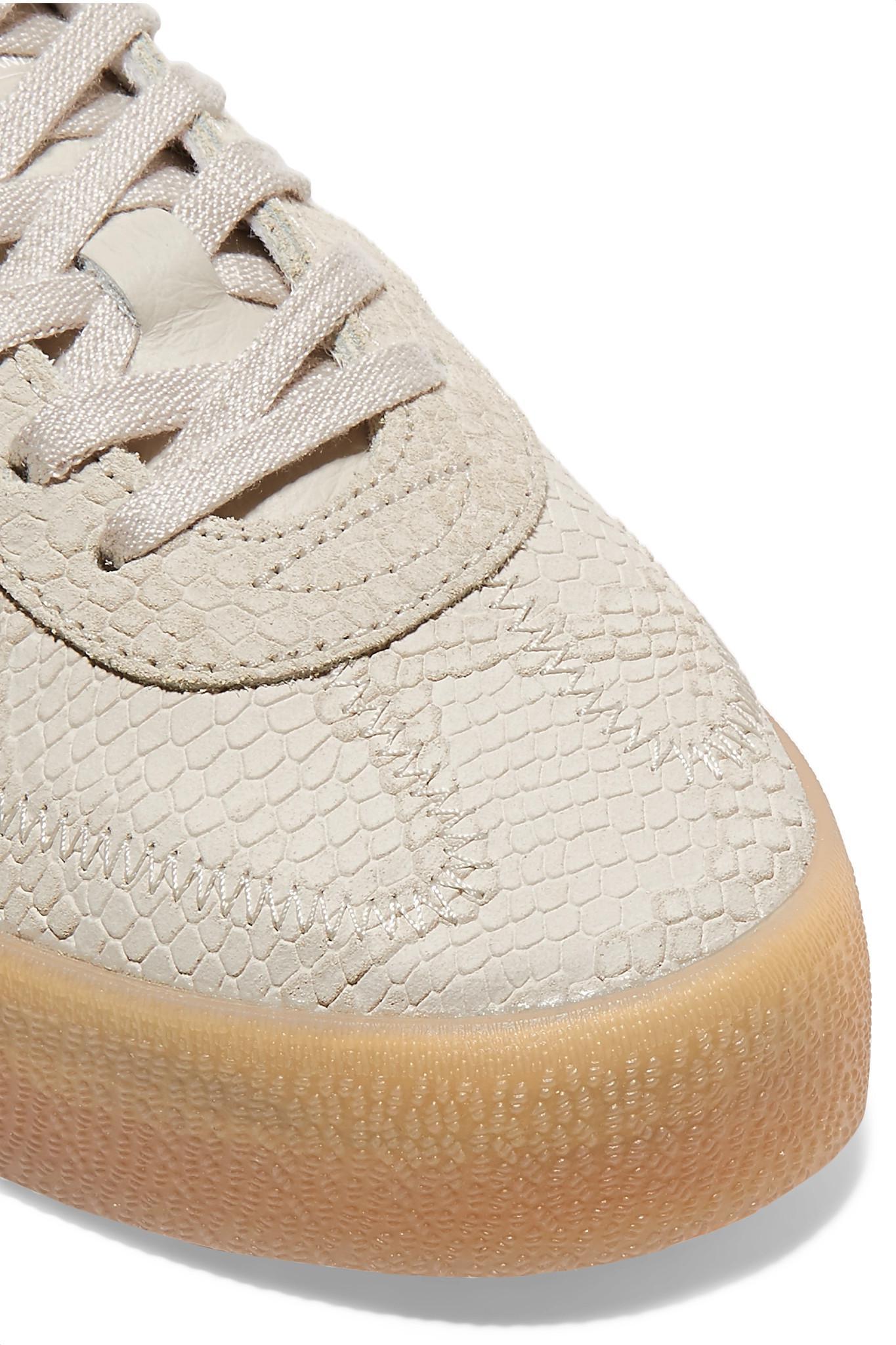 official photos f638b e424c adidas Originals Samba Rose Snake-effect Suede And Leather P