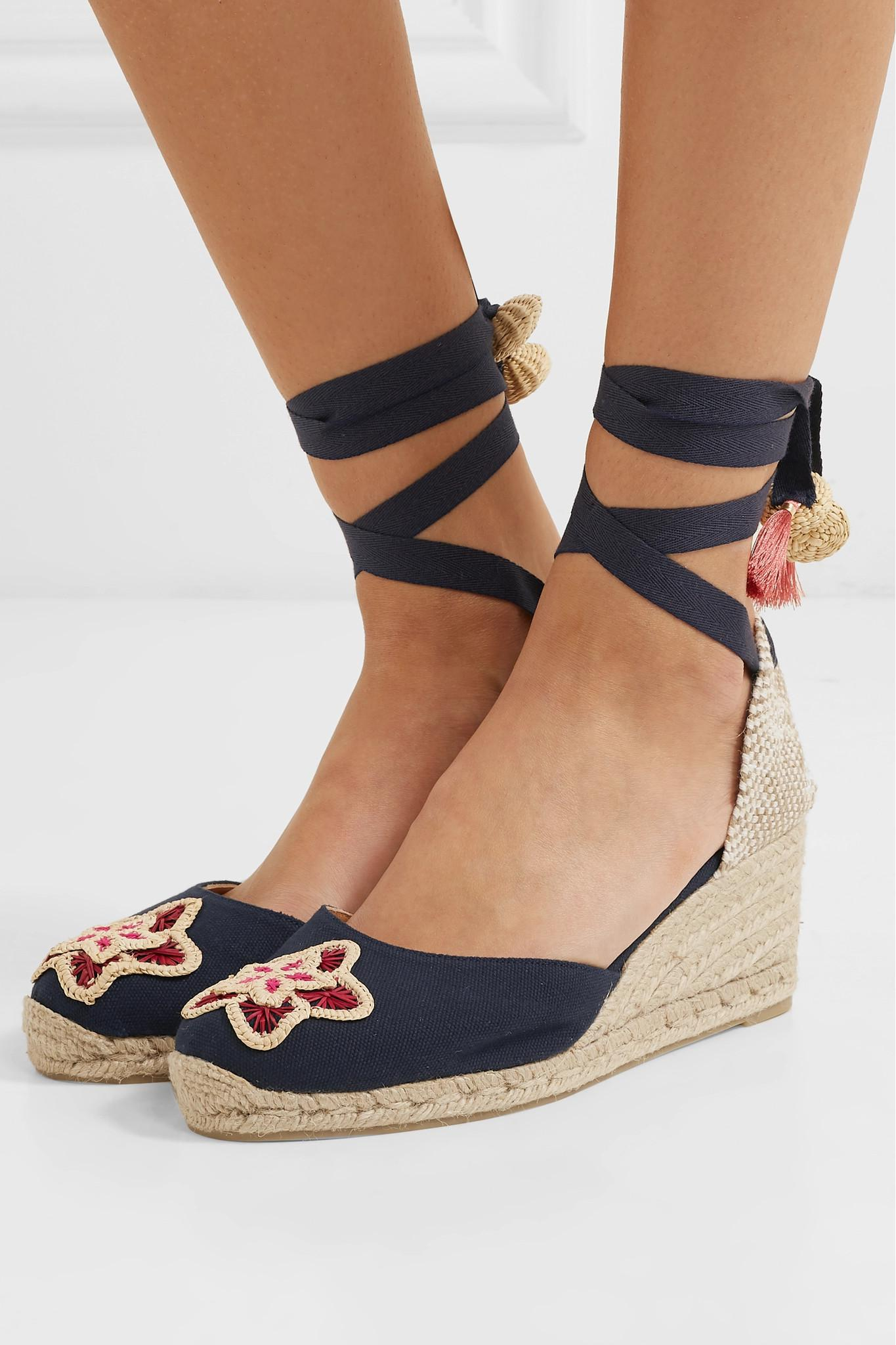 10976efeb15 Lyst - Castaner + Mercedes Salazar Carina 60 Embroidered Canvas ...