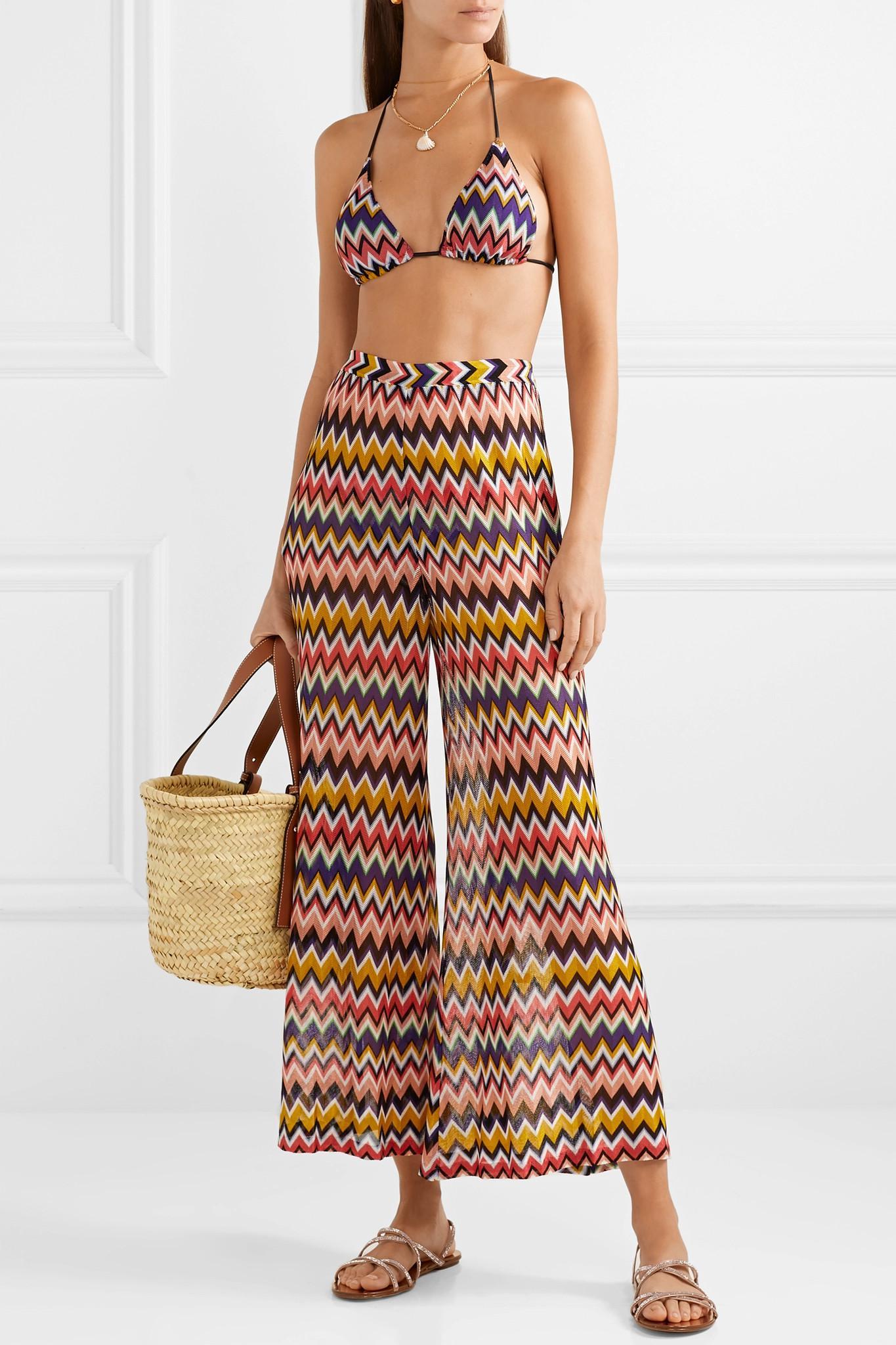 2868debe43b2e Missoni - Red Mare Cropped Crochet-knit Wide-leg Pants - Lyst. View  fullscreen