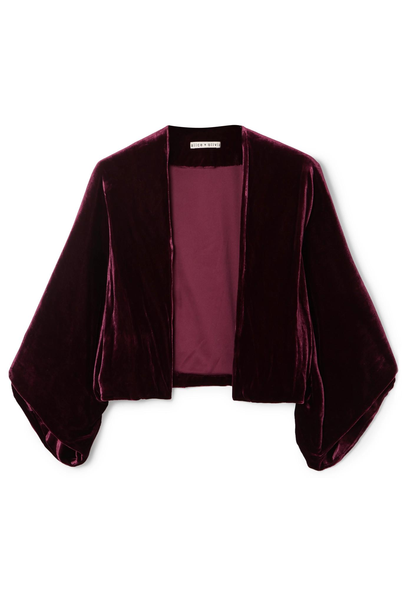 52b8f360c Alice + Olivia Purple Donnie Velvet Jacket