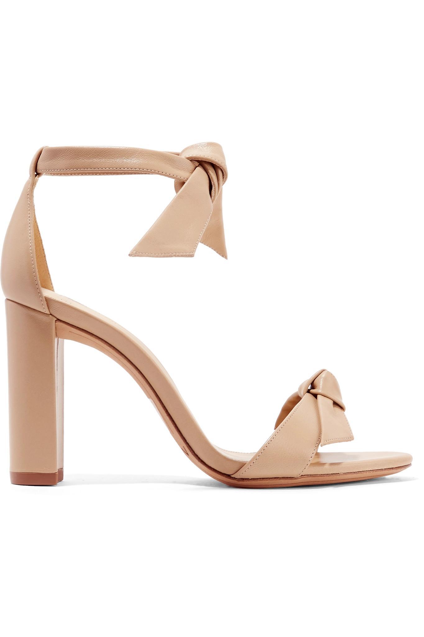 0aff4d3dafdf Lyst - Alexandre Birman Clarita Bow-embellished Leather Sandals in ...