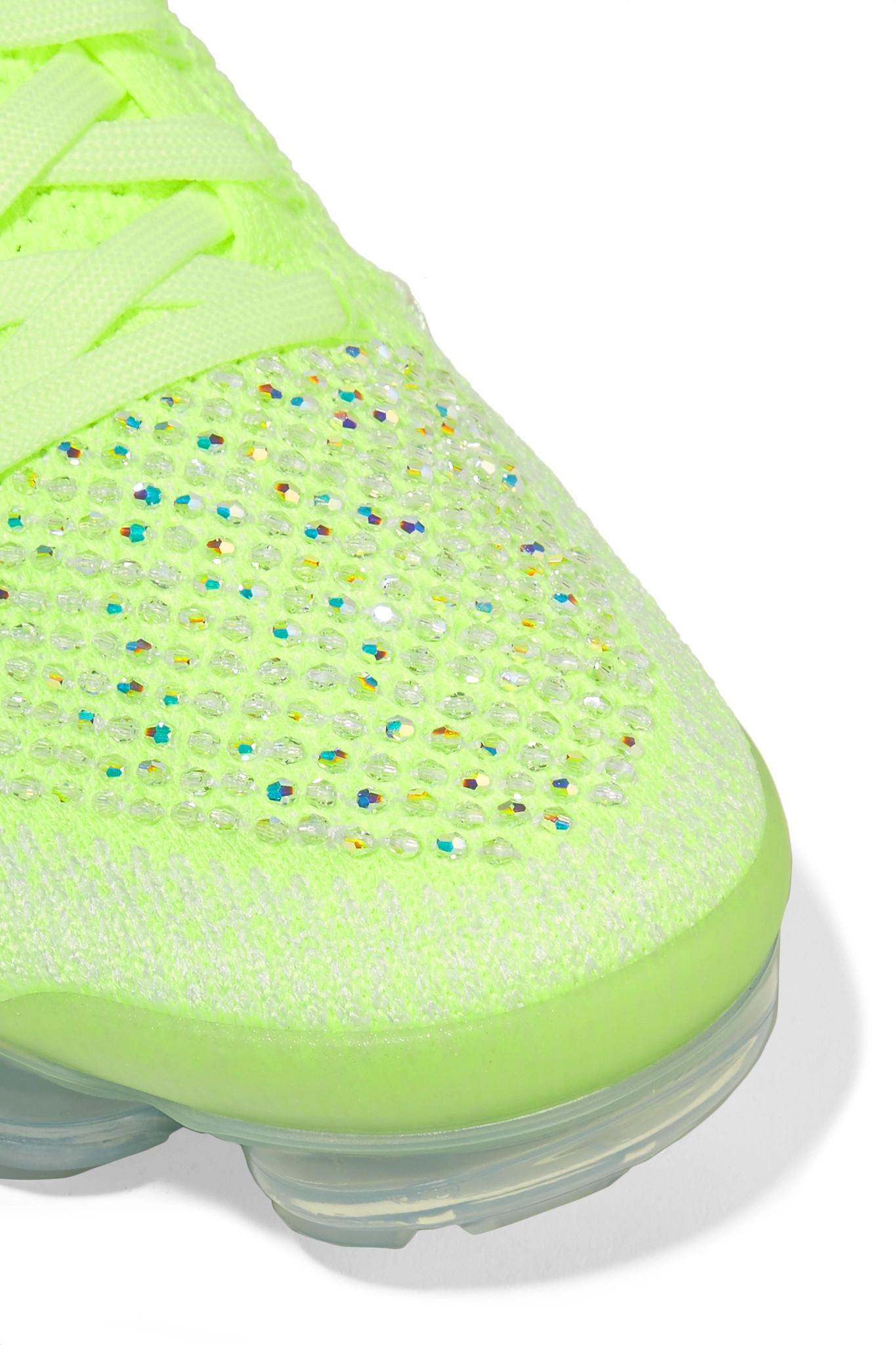 cbd4d2db1a9a Nike - Green Air Vapormax 2 Swarovski Crystal-embellished Flyknit Sneakers  - Lyst. View fullscreen