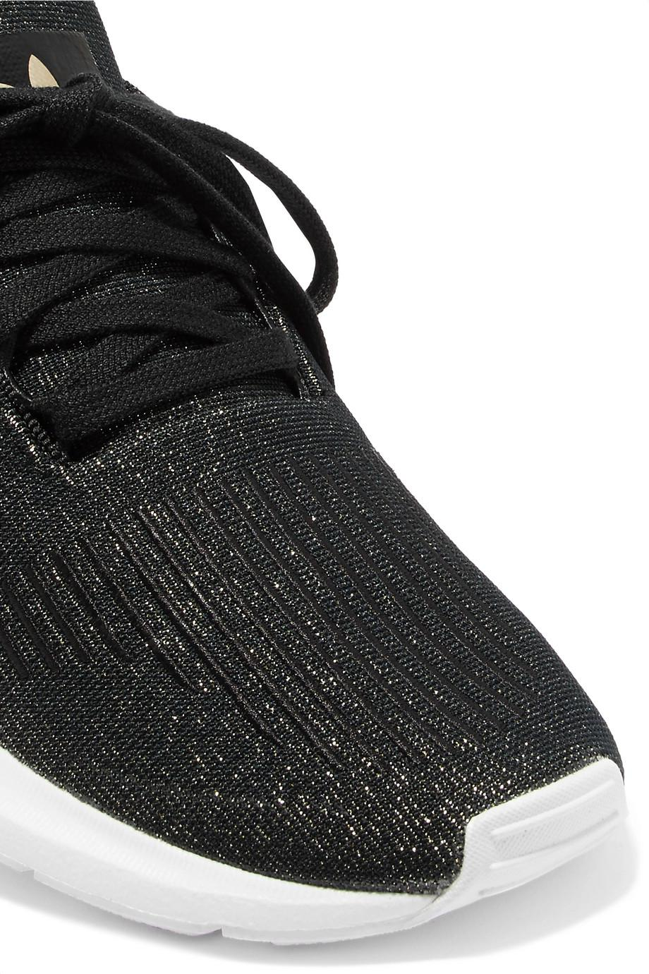 Swift Run Glittered Primeknit Sneakers - Black adidas Originals 12RNLkhaBJ