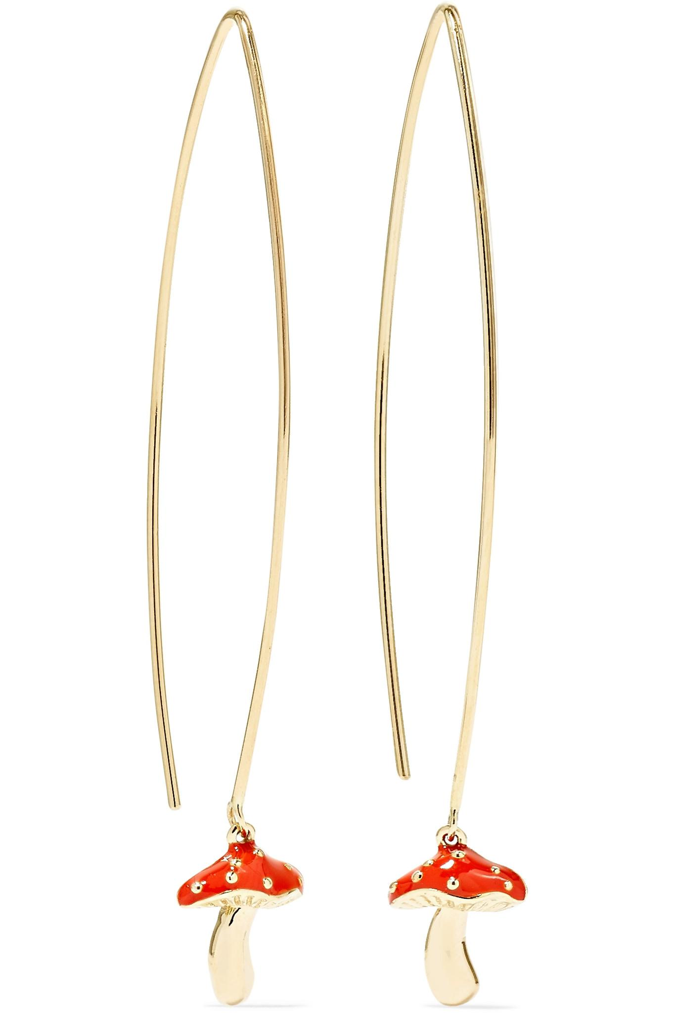 Alison Lou Pill 14-karat Gold Enamel Earring ZxJmopsl0O