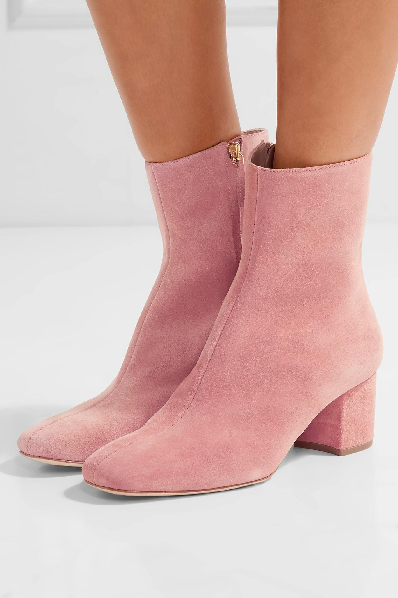 6ae8795948c Brother Vellies Pink Kaya Suede Ankle Boots