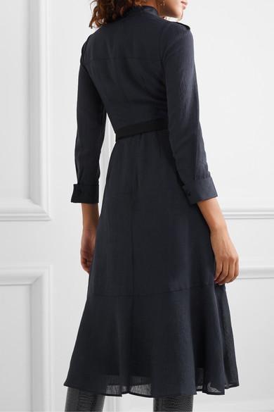 Robe Midi En Voile À Ceinture Romy Cefinn en coloris Bleu