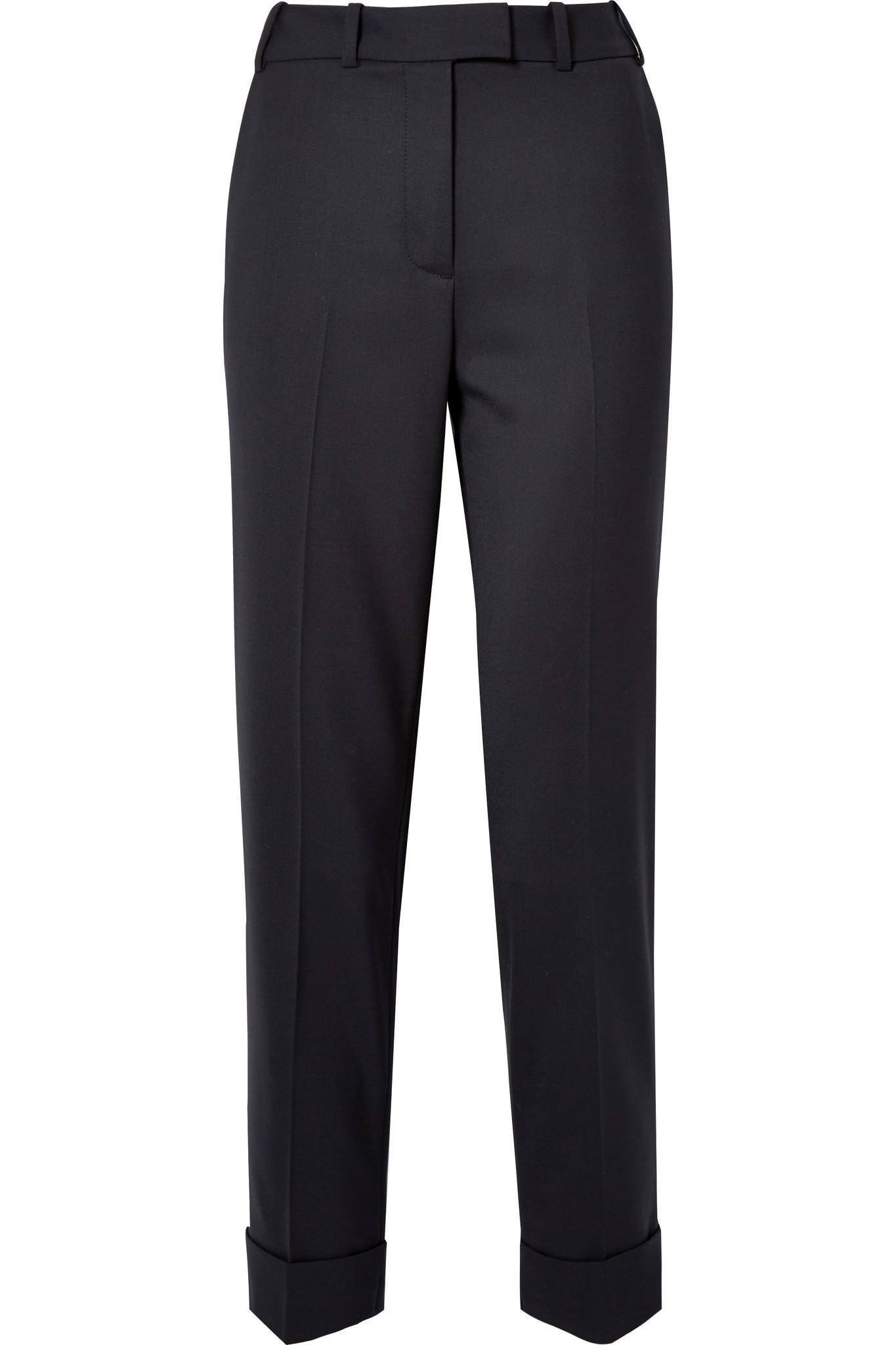 Stretch-cady Straight-leg Pants - Navy Cefinn cbQ1kHYW