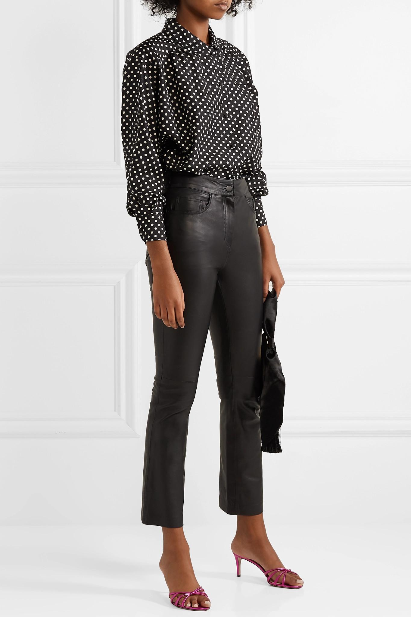 4dd840b5100446 Marc Jacobs - Black Polka-dot Silk-satin Shirt - Lyst. View fullscreen