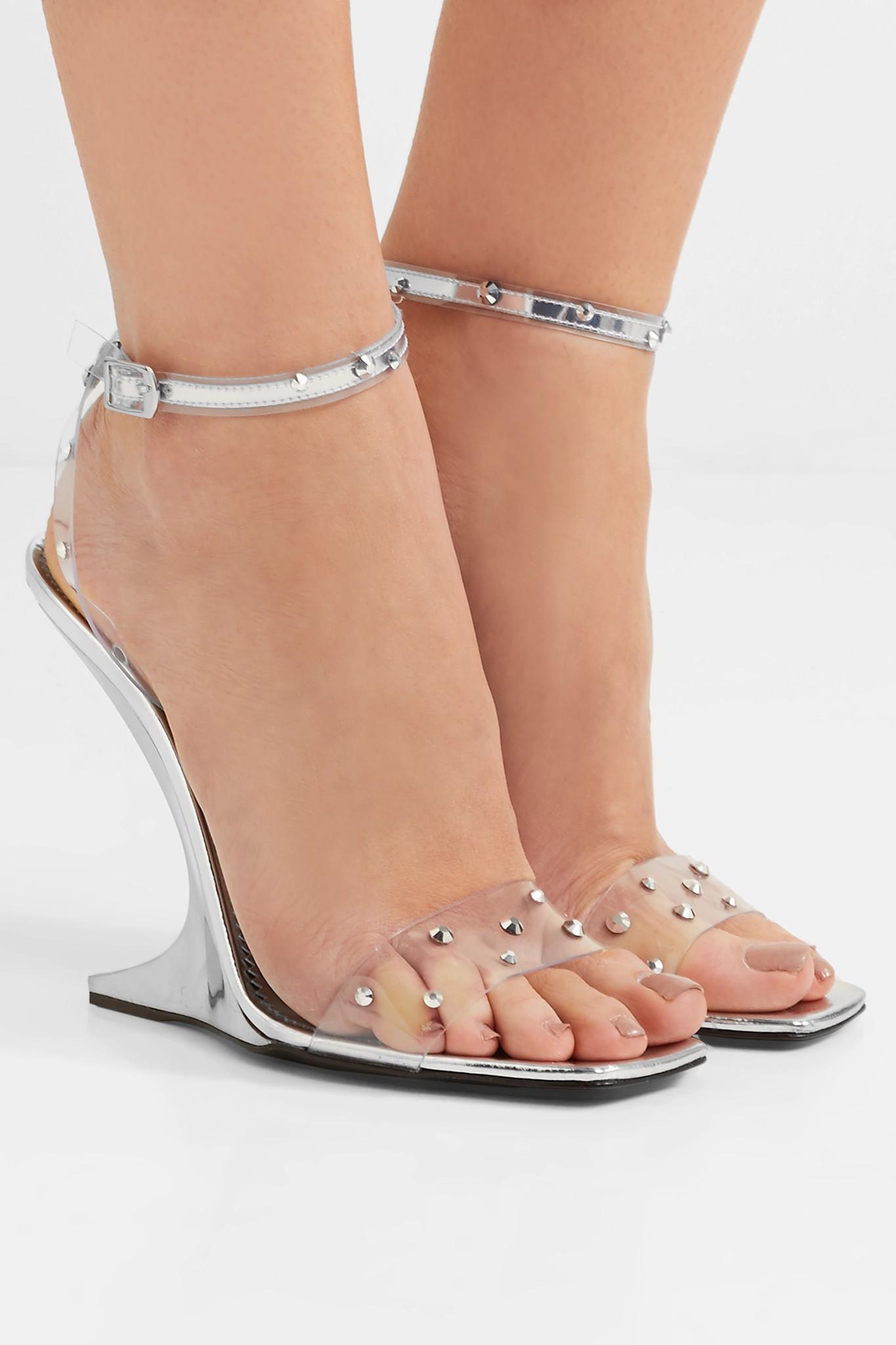 618ff414752 Giuseppe Zanotti - Metallic Garconne Crystal-embellished Pvc Sandals -  Lyst. View fullscreen
