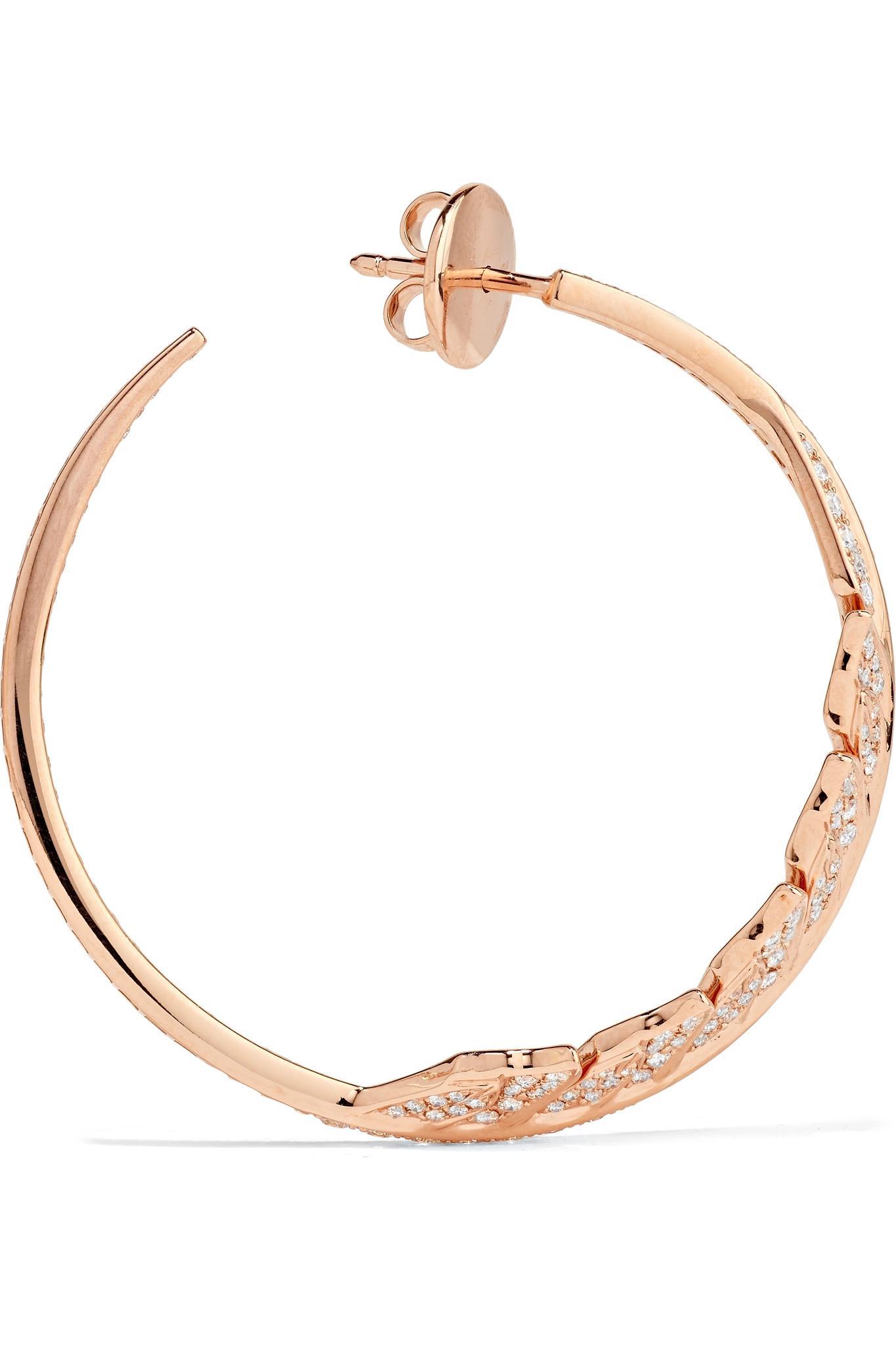 Stephen Webster Magnipheasant 18-karat Rose Gold Diamond Hoop Earrings bs9GUA8hN