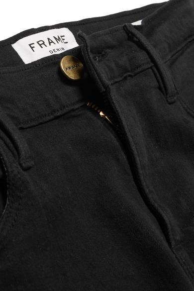 FRAME Denim Le High Flare High-rise Jeans in Black - Save 28%