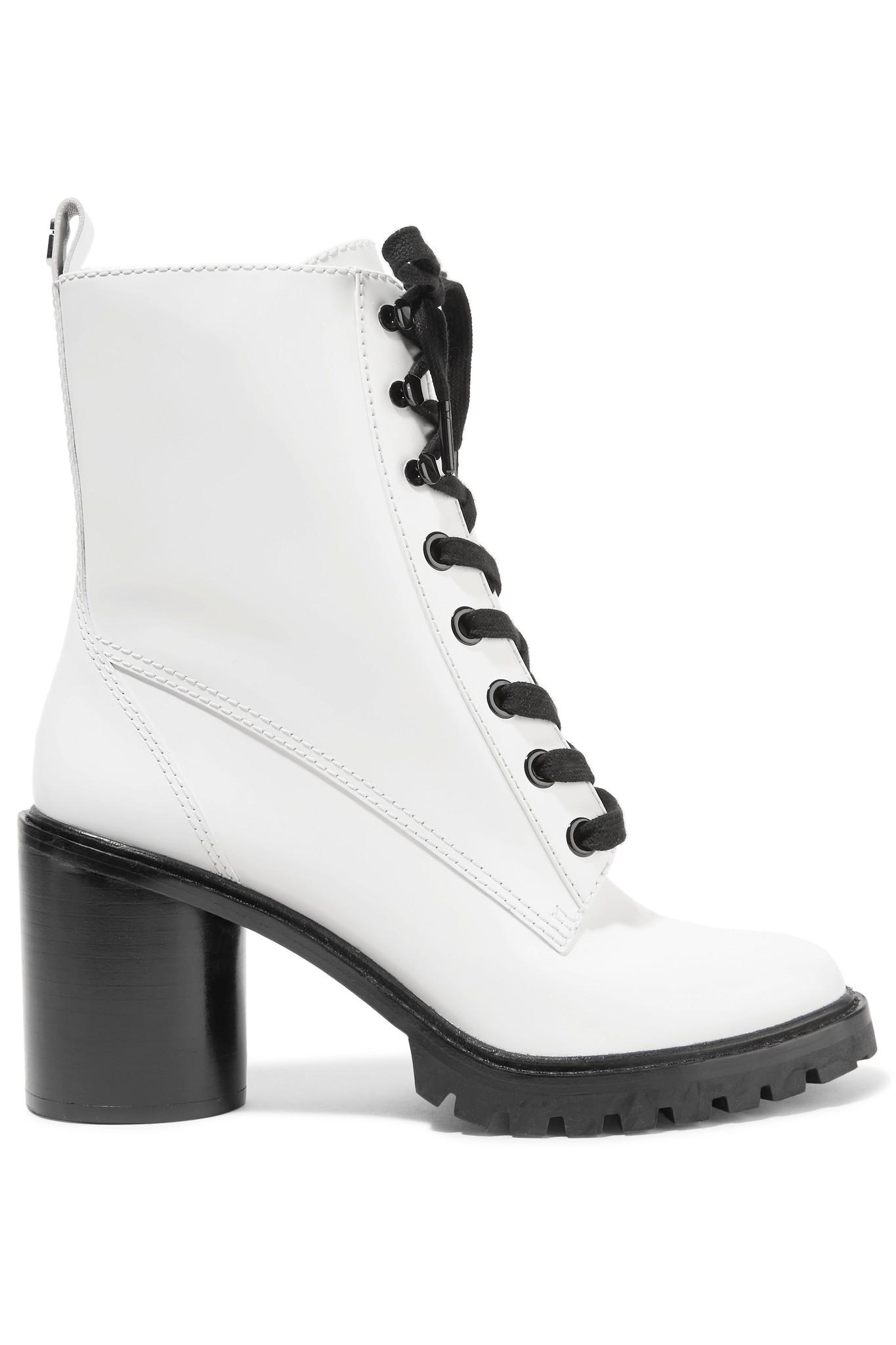 51621f81769 Lyst - Marc Jacobs Ryder Lace-up Polished-leather Ankle Boots in White