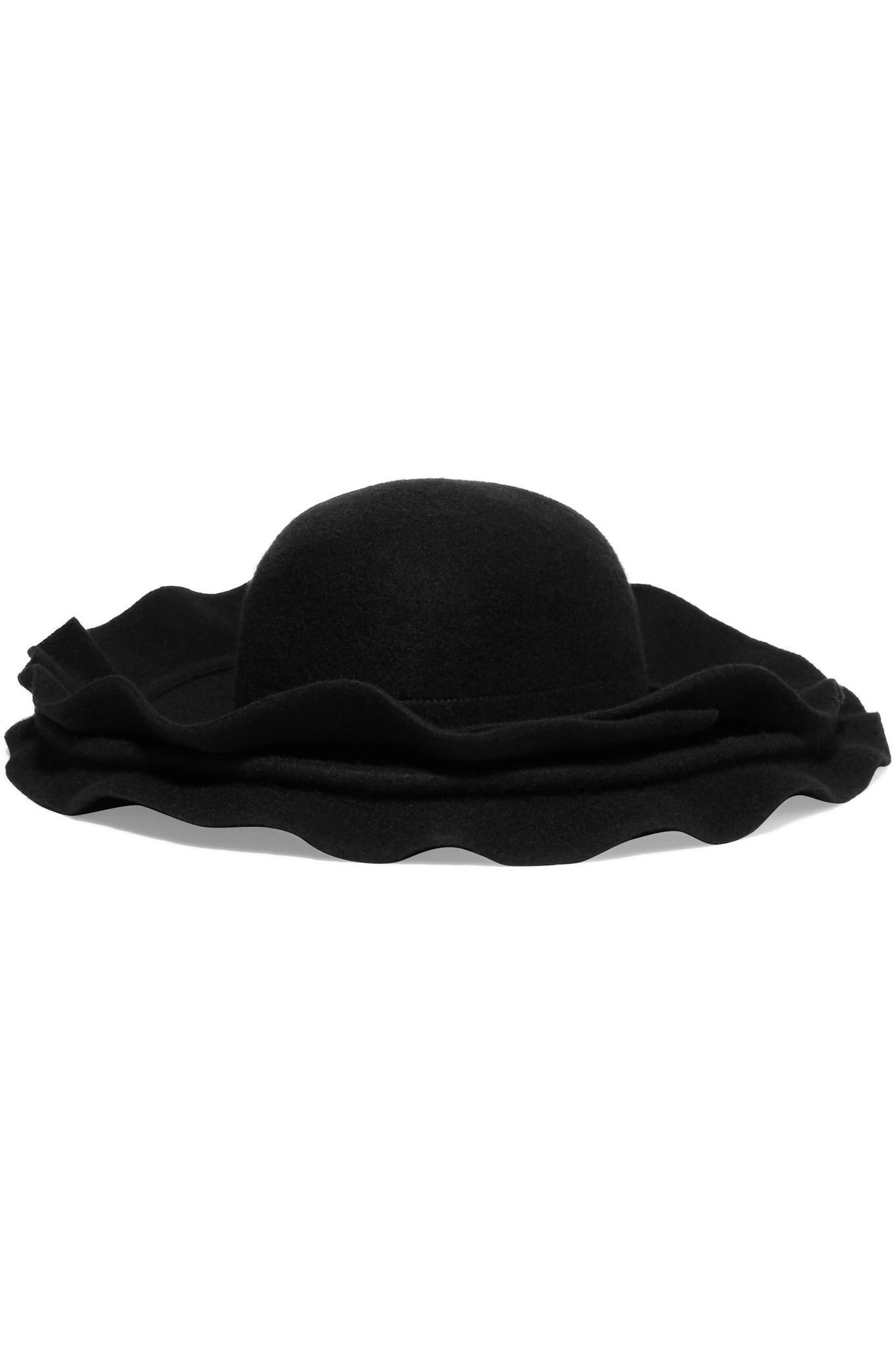 26a7feccb Comme des Garçons Black Layered Wool-felt Hat