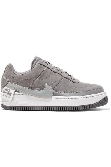 Nike Air Force 1 Jester Suede Sneakers in Gray - Lyst