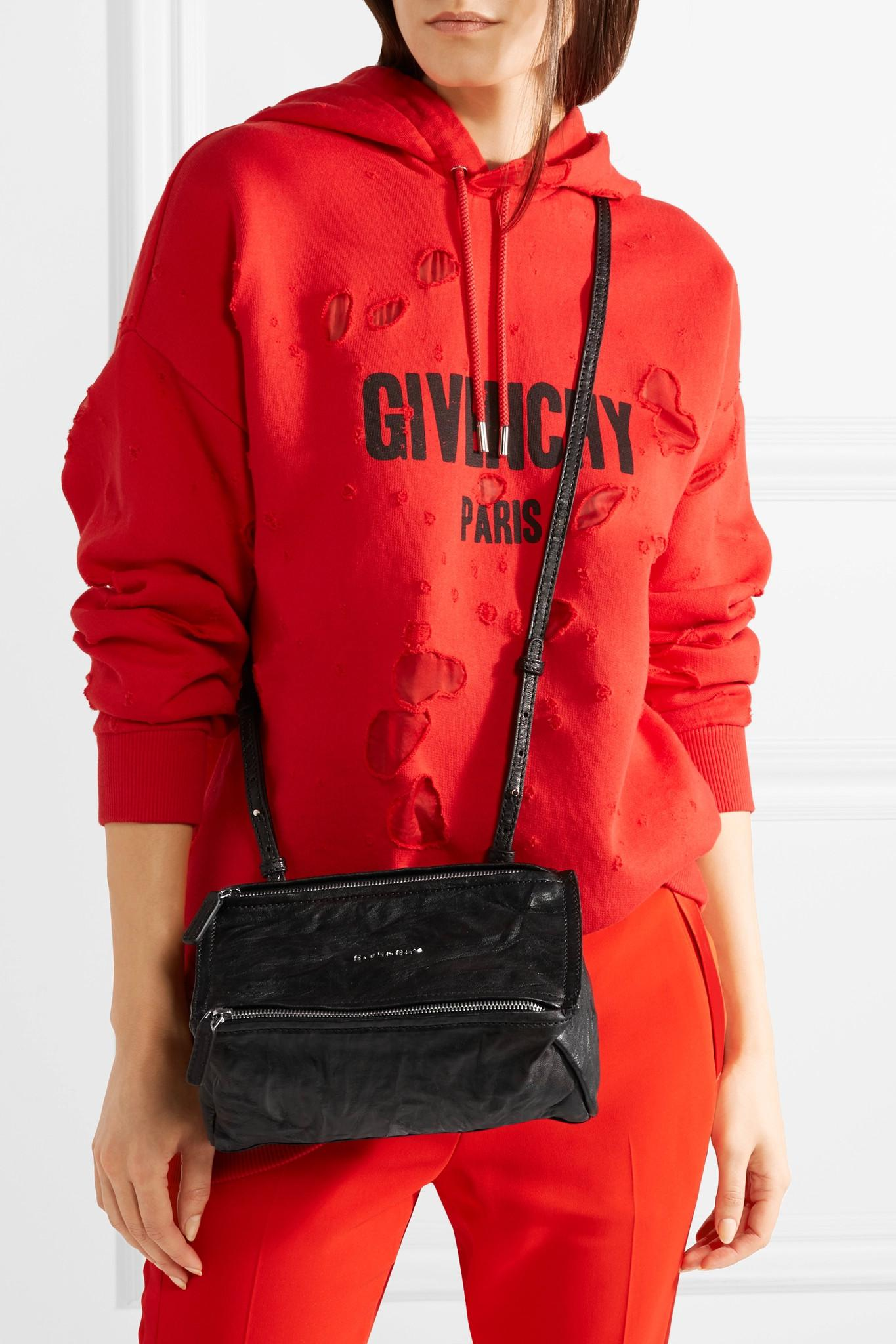 4246388dec Givenchy - Black Mini Pandora Bag In Washed-leather - Lyst. View fullscreen