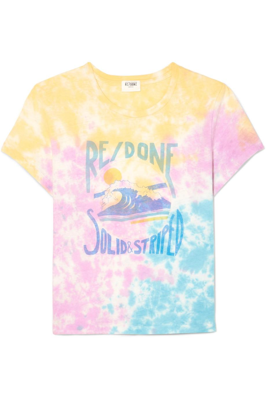 done The Venice Printed Tie-dyed Cotton-jersey T-shirt H8H9MzN