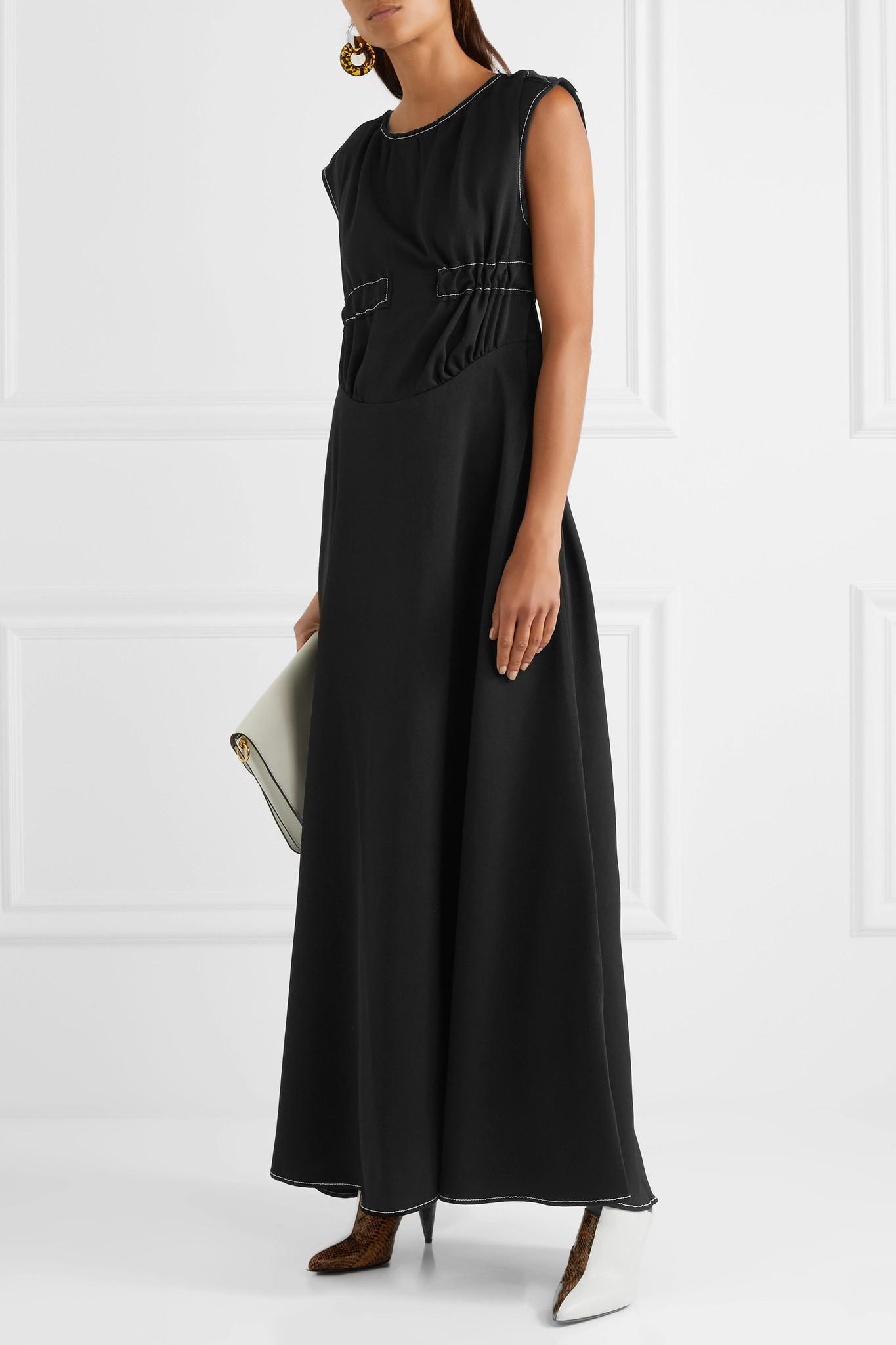 Lena Embroidered Crepe Maxi Dress - Black Rejina Pyo iIprM2kyBp