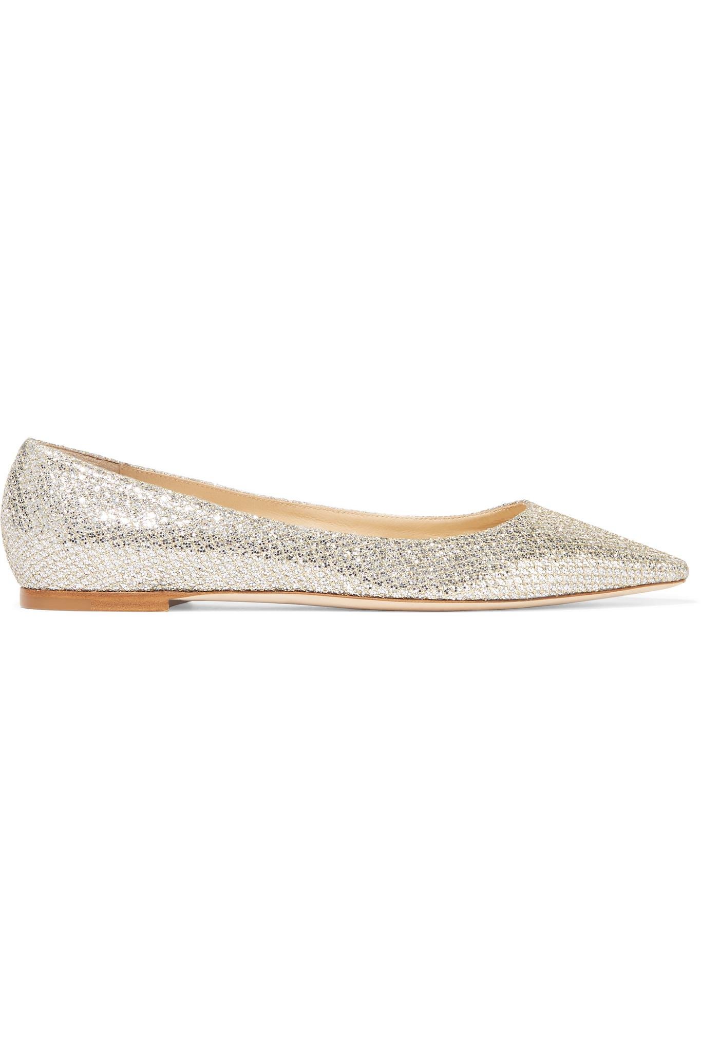 591263d4e56d Gallery. Previously sold at  NET-A-PORTER · Women s Jimmy Choo Glitter  Women s Printed Flats ...