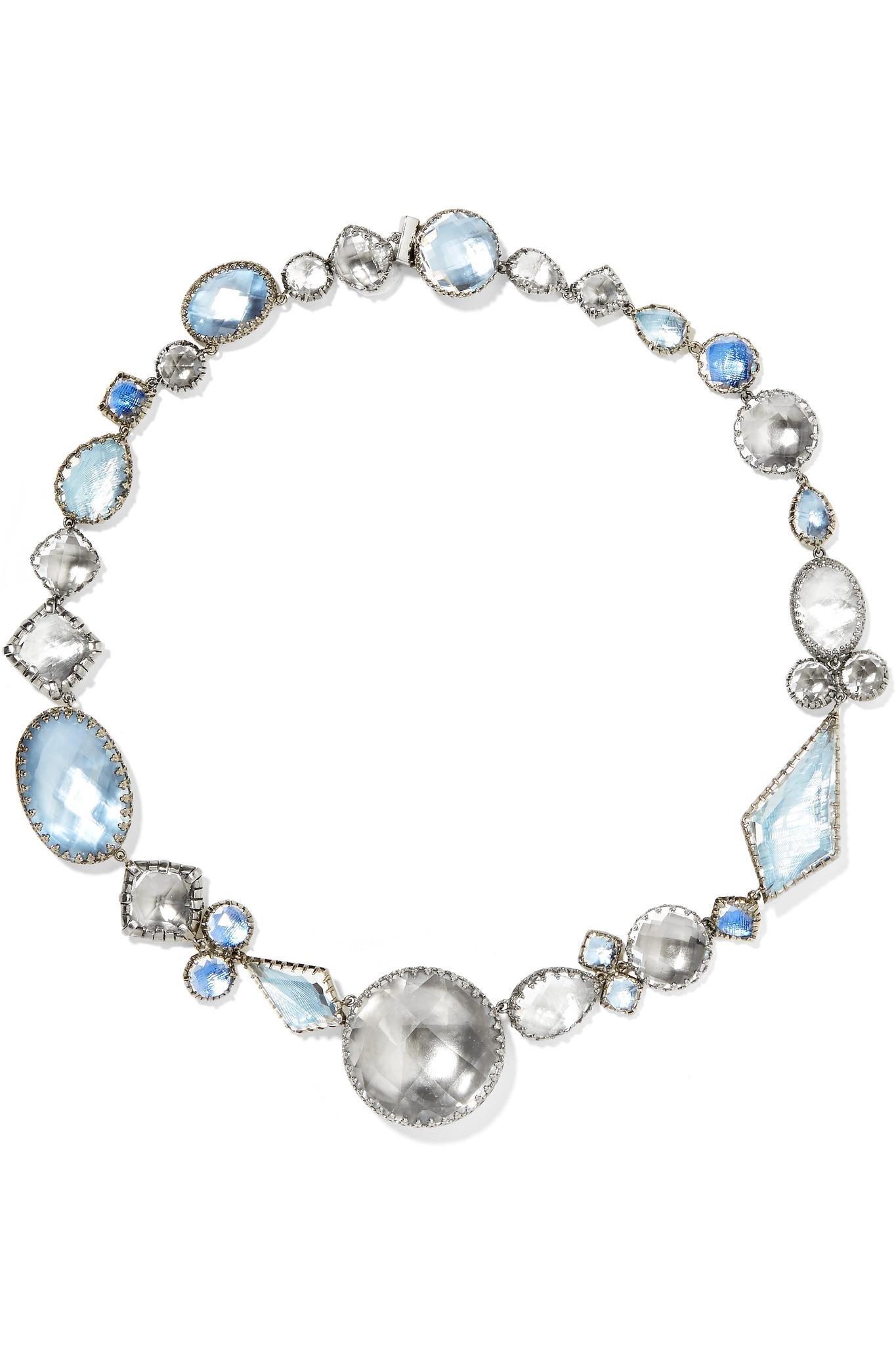 Larkspur & Hawk Sadie Rivière Rhodium-dipped Quartz Necklace - Silver DDteB