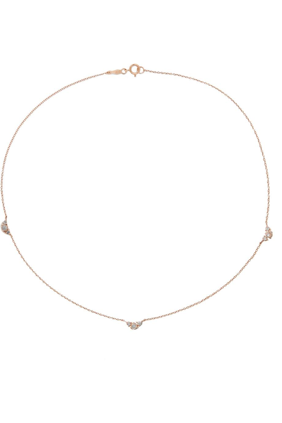 Catbird Sleeping Beauty 14-karat Rose Gold Diamond Necklace NUW2GzOda