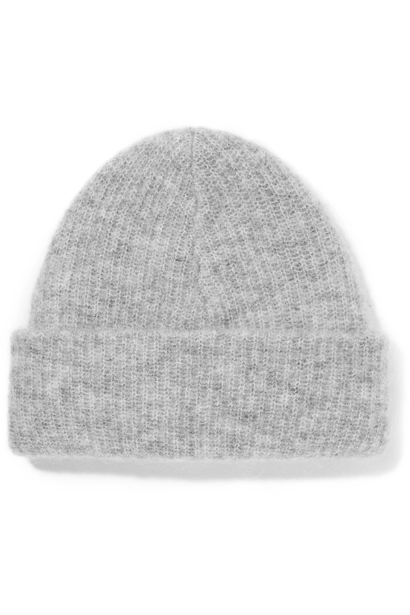 12e34c99074d5 Ganni Ribbed-knit Beanie in Gray - Lyst