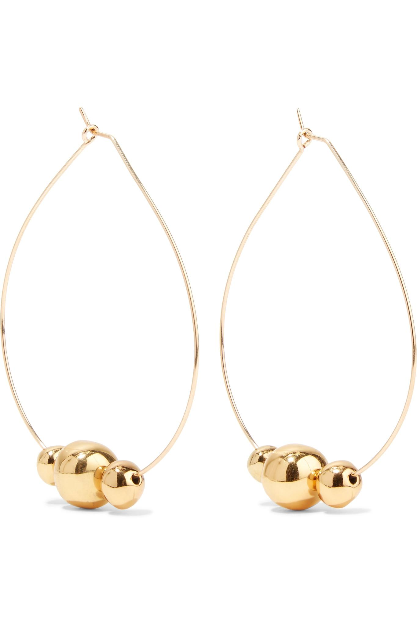 Dinosaur Designs Mineral Gold-plated Hoop Earrings liX6x