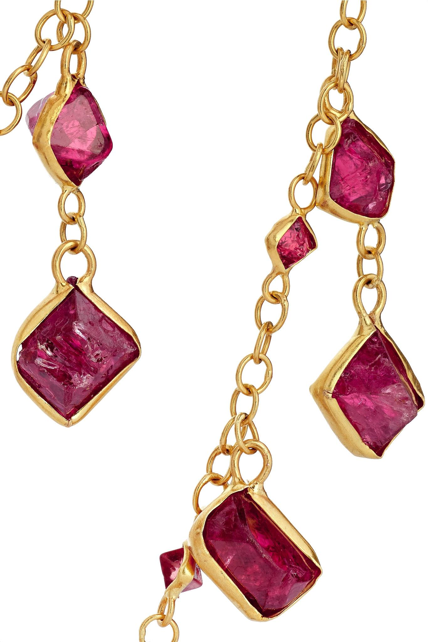 Pippa Small 18-karat Gold Spinel Necklace in Metallic