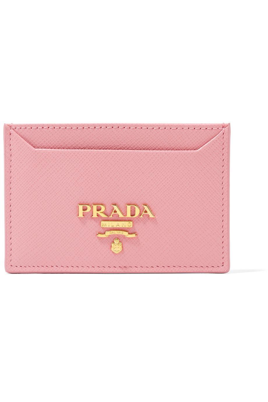 Textured-leather Cardholder - Pink Prada nUZjyzsbY