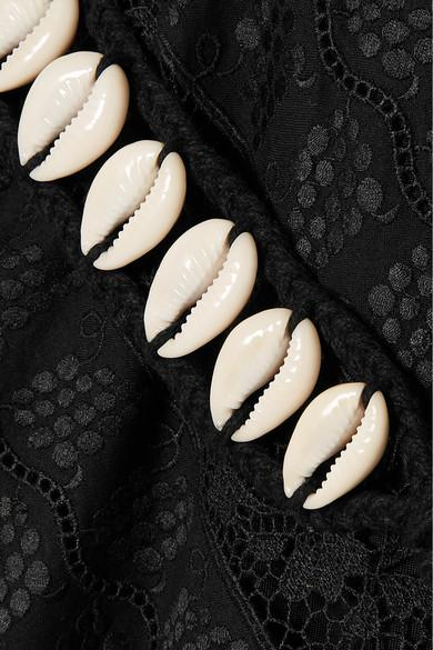 Robe En Gaze De Broderie Anglaise Et Dentelle À Volants Veneto Perennial Dentelle Zimmermann en coloris Noir