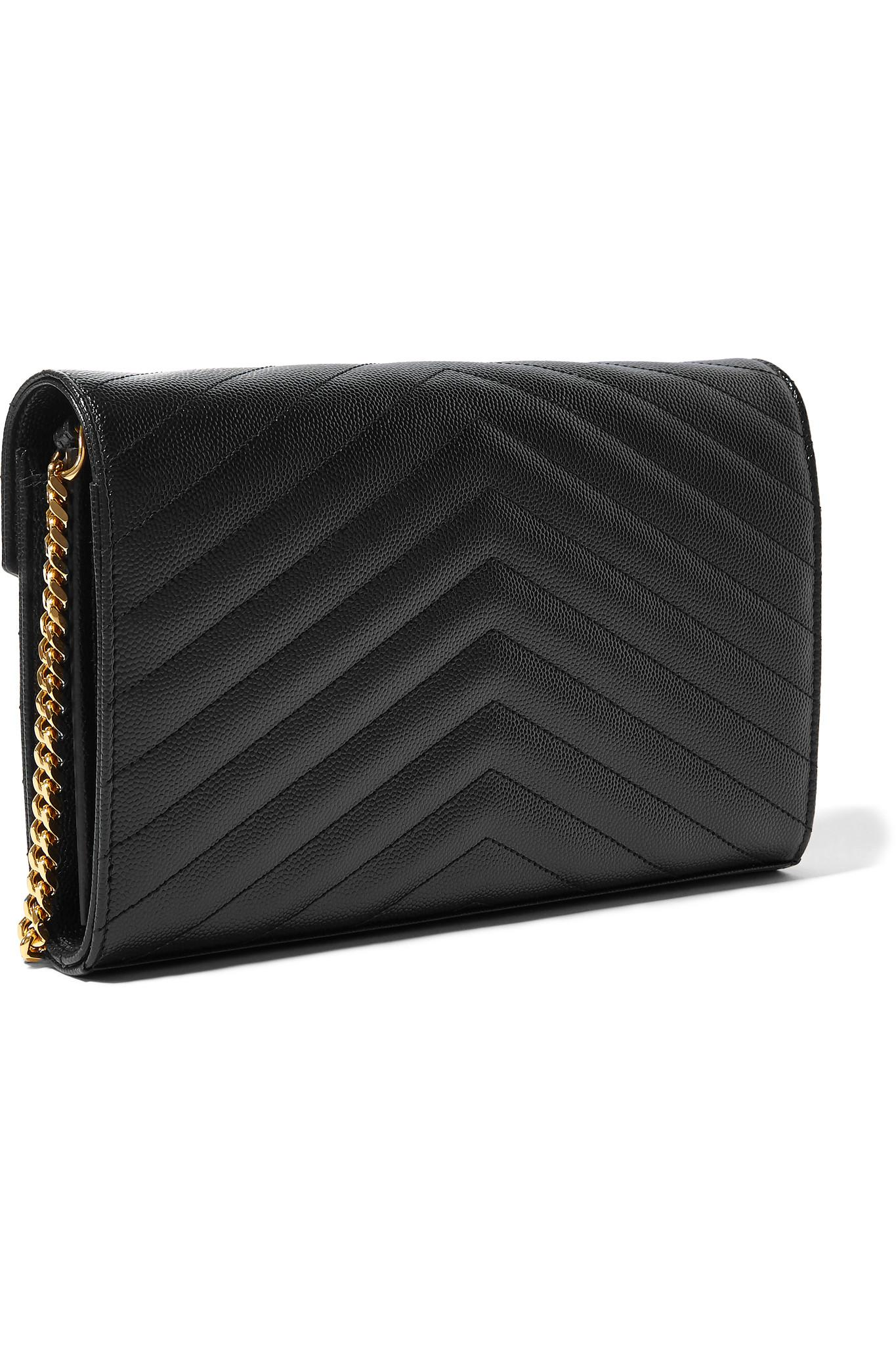 Lyst - Saint Laurent Monogramme Mini Quilted Textured-leather ... cffb9e8263121