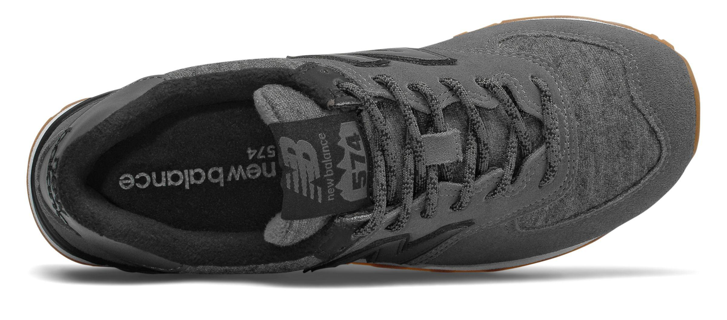 lowest price 00968 2b29a New Balance Black 574 Winter Quilt