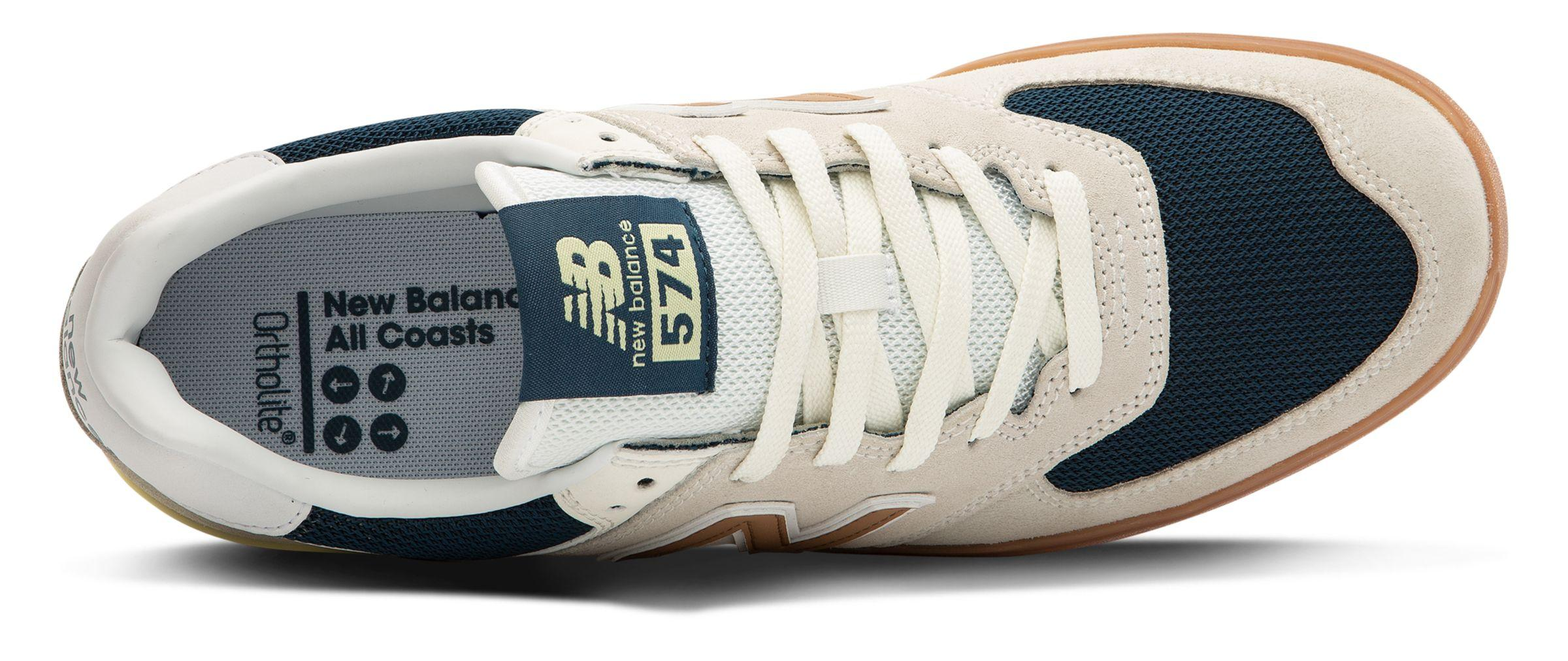 New Balance Suede Unisex All Coasts 574 in White/Gold (White) - Lyst