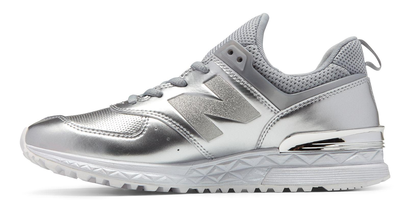 New Balance Synthetic 574 Sport in Silver (Metallic) - Lyst