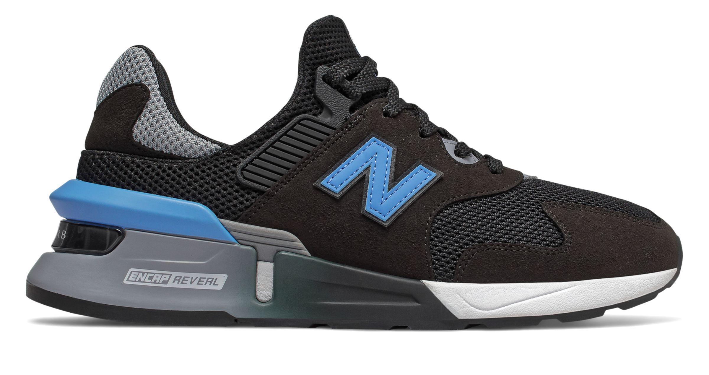 new balance black and blue