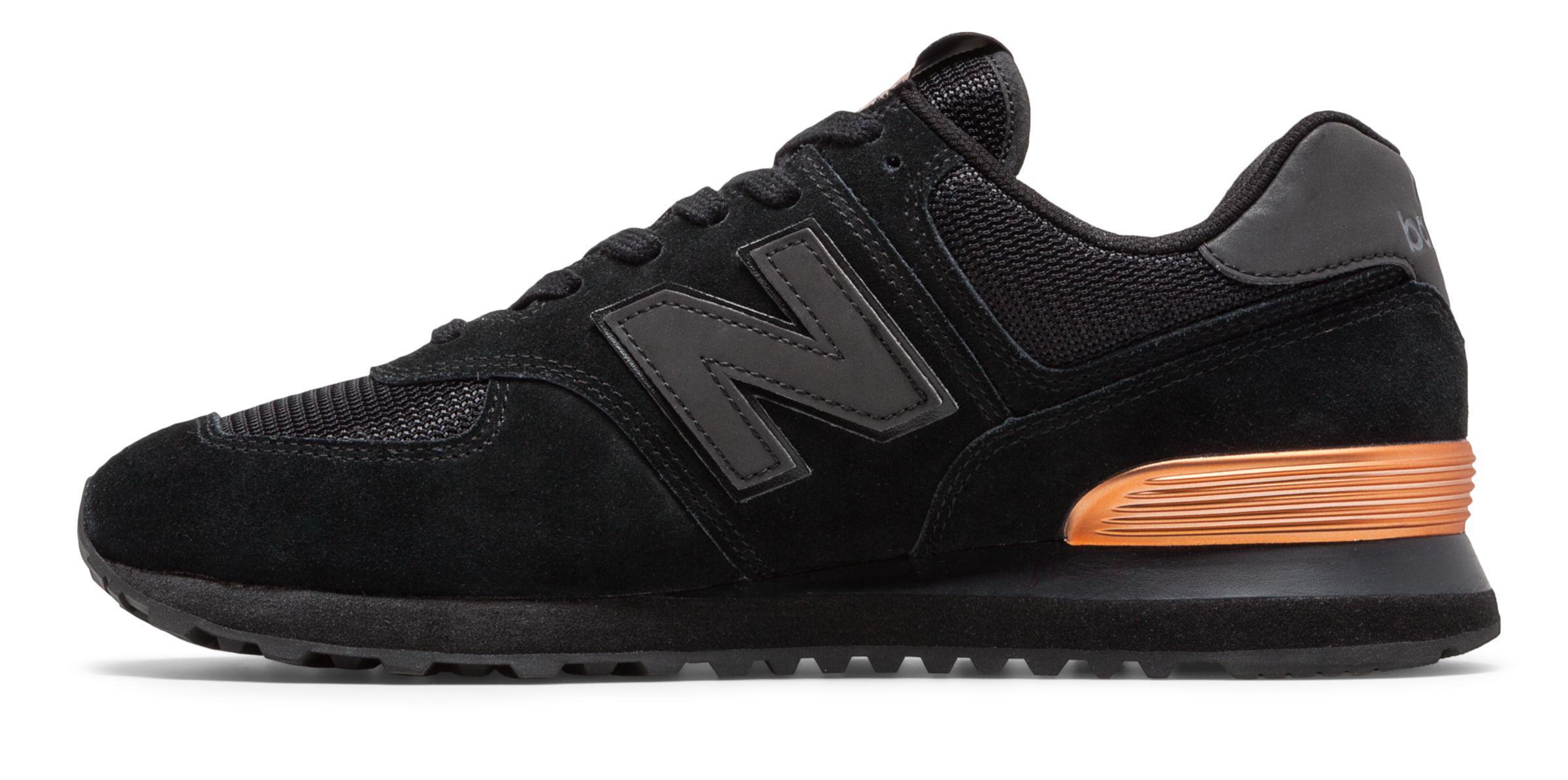 prix compétitif a1502 f93ea New Balance Black 574 Nyc Marathon Shoes for men