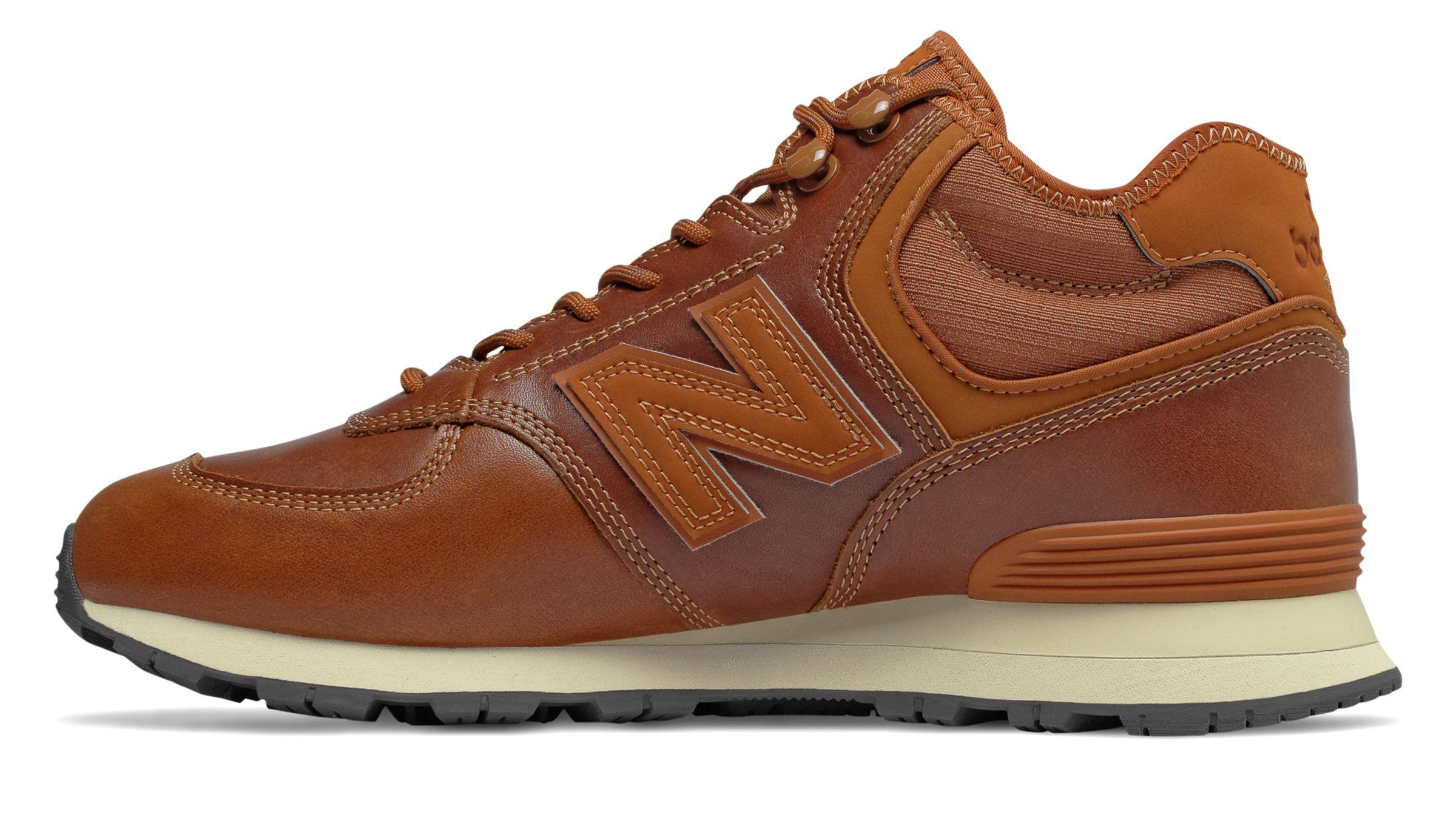 New Balance Leather 574 Mid-cut Running Shoes in Orange (Brown ...
