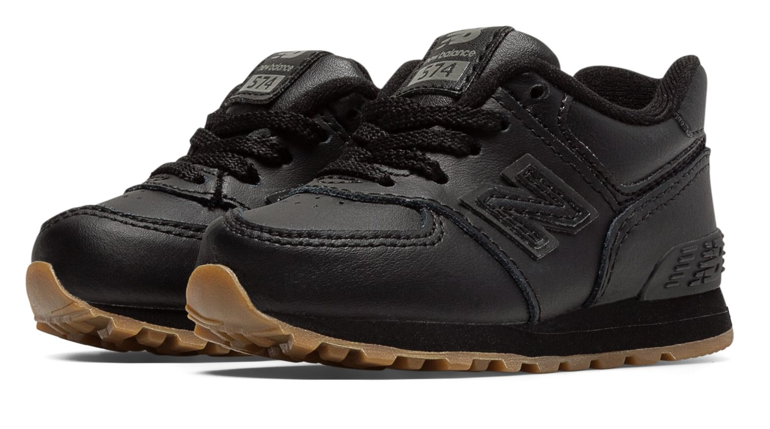 Lyst - New Balance 574 Leather in Black for Men