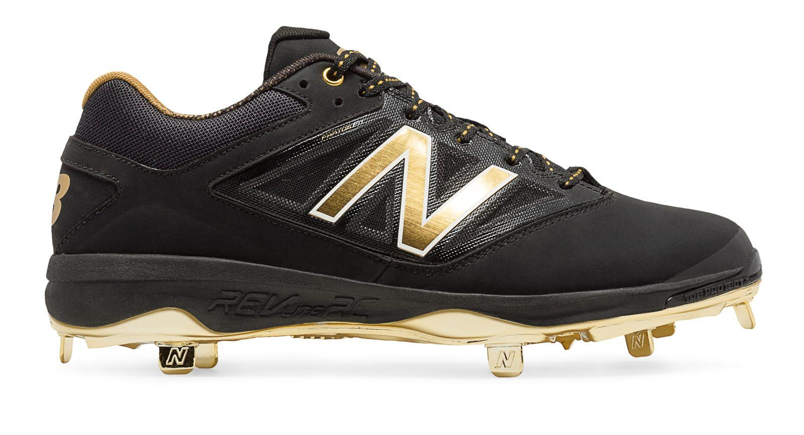 black and gold new balance cleats