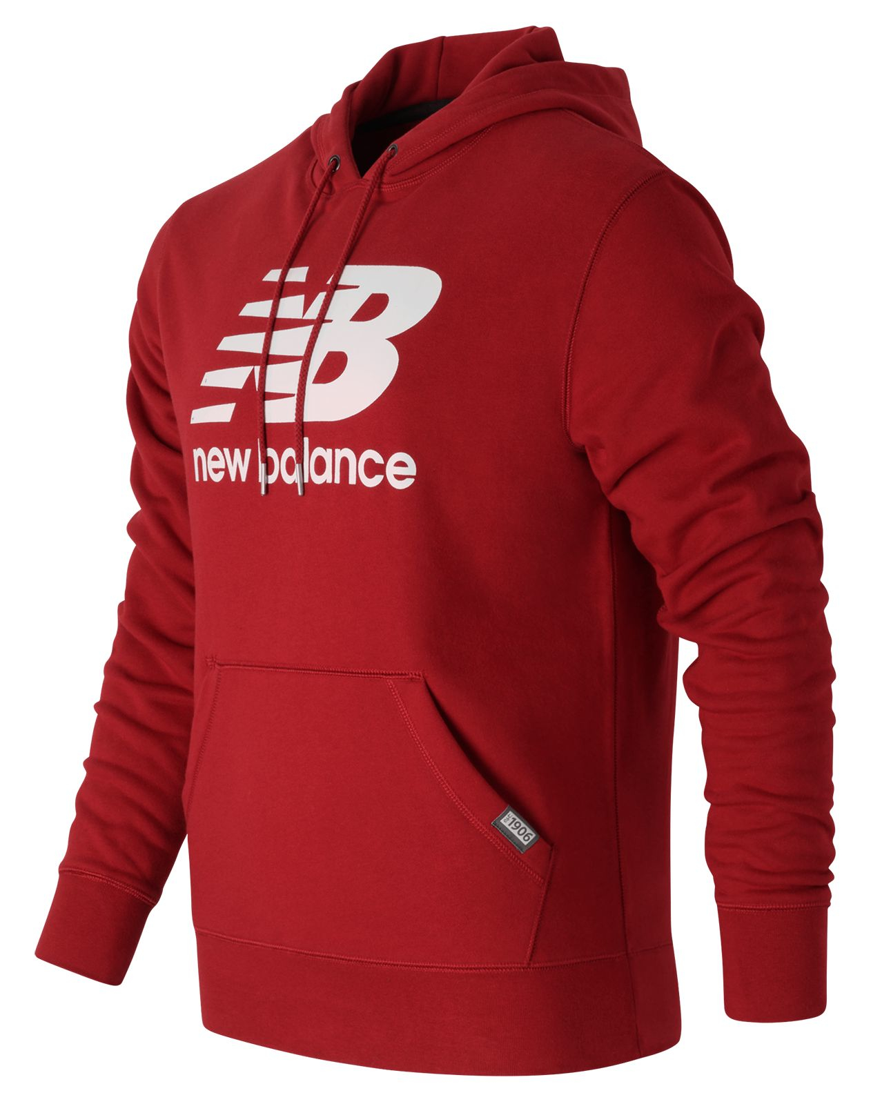 new balance classic pullover hoodie in red for men lyst. Black Bedroom Furniture Sets. Home Design Ideas