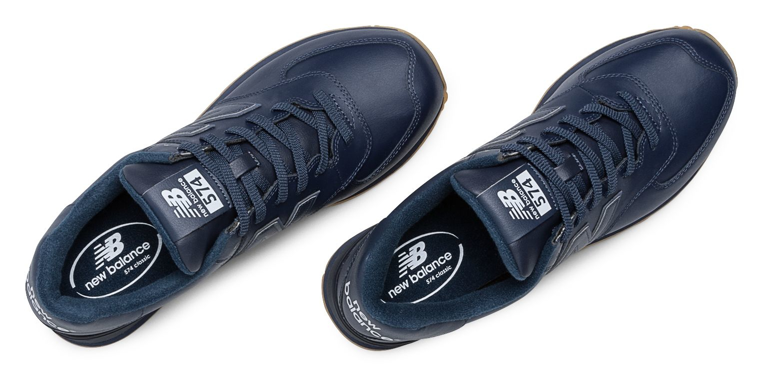 New Balance 574 Leather in Navy (Blue