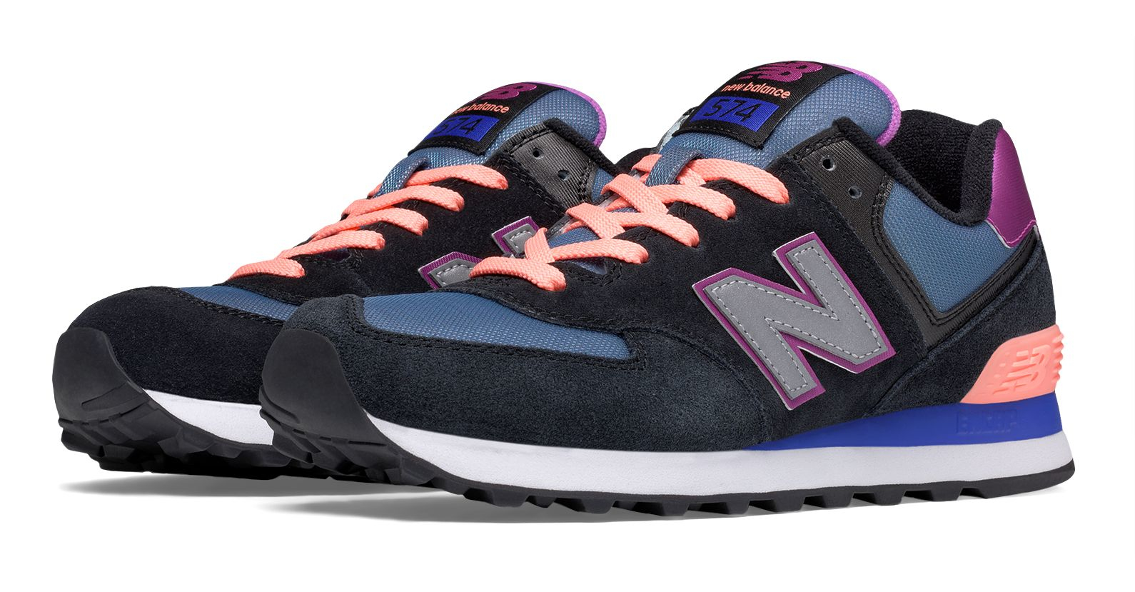 e0bc549a95ae New Balance 574 Paradise Awaits in Black - Lyst