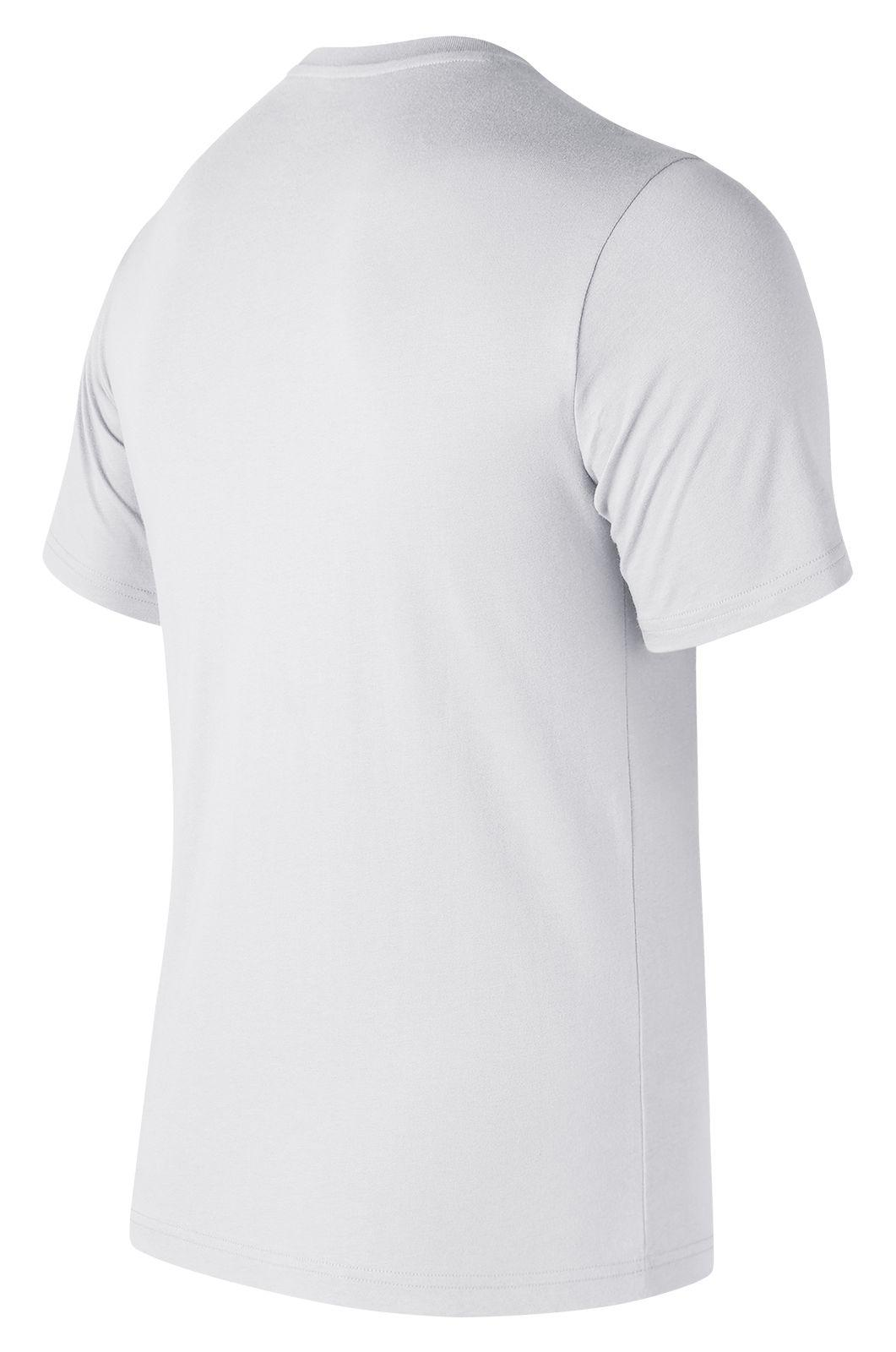 443df0b0e8f25 Lyst - New Balance Essentials Stacked Logo Tee in White for Men