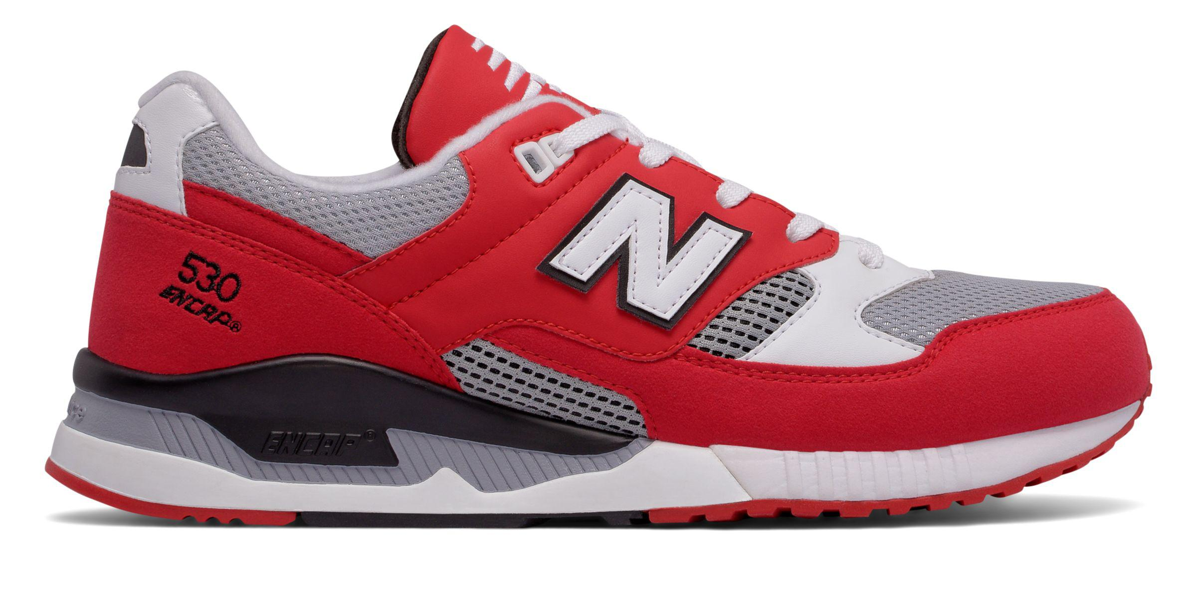 new balance 530 all red